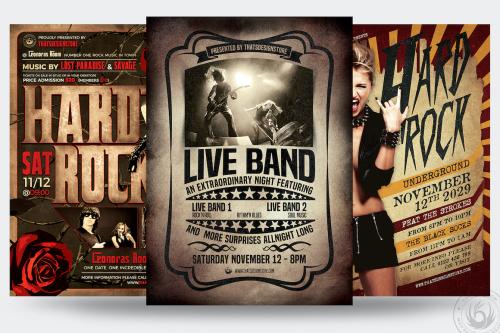 Live Band PSD Flyer Templates Bundle V1