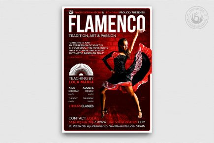 Flamenco Music Flyer Psd Template V3