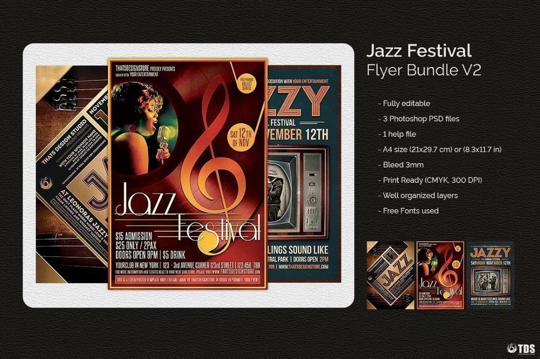 Jazz Festival Flyer Bundle V2