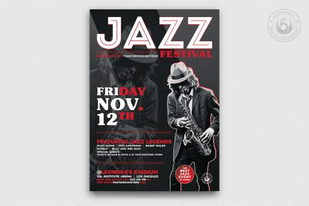 Jazz Festival Flyer Template V3