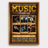 Music Festival Flyer Template PSD design editable with photoshop for live band concerts
