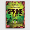 Spring Equinox Flyer Template Psd download V4, earth day poster, ecological, green