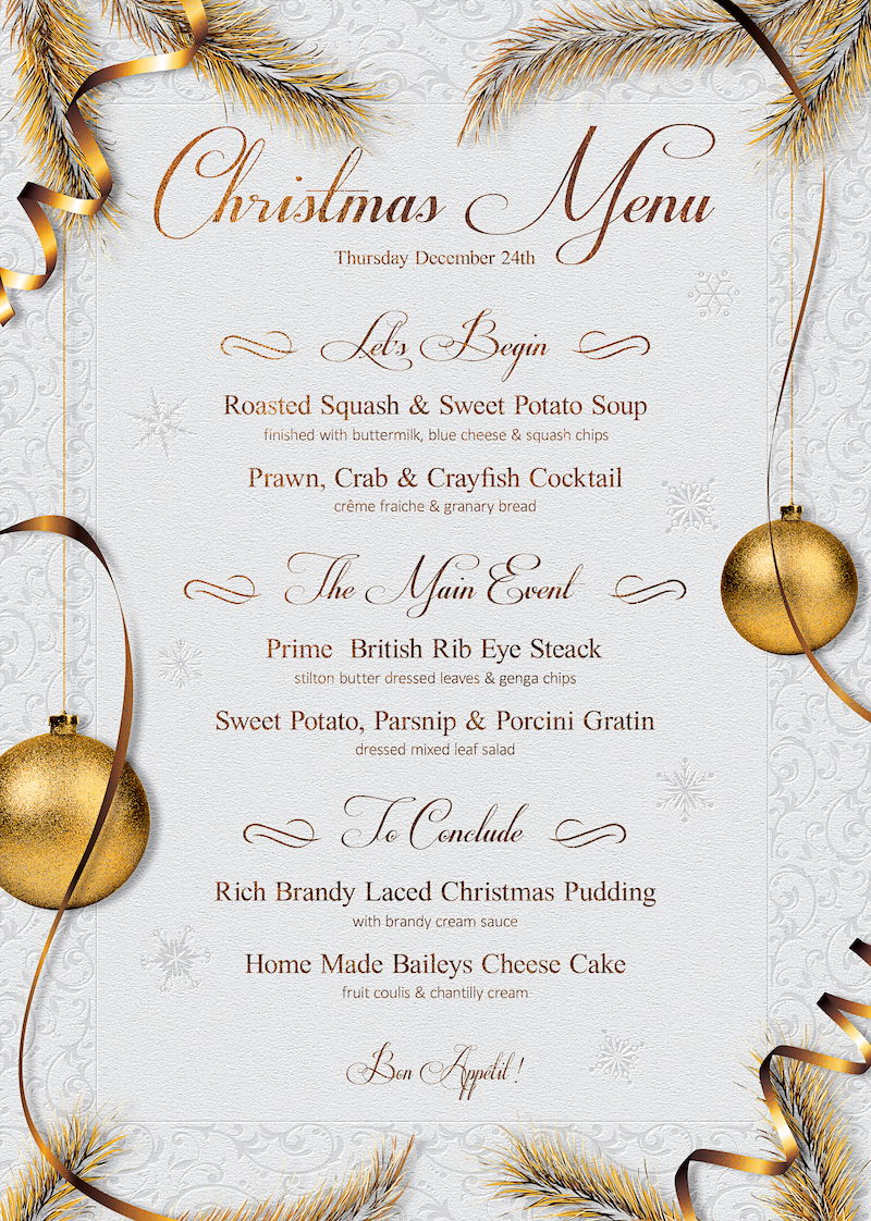 Christmas Eve Menu Template