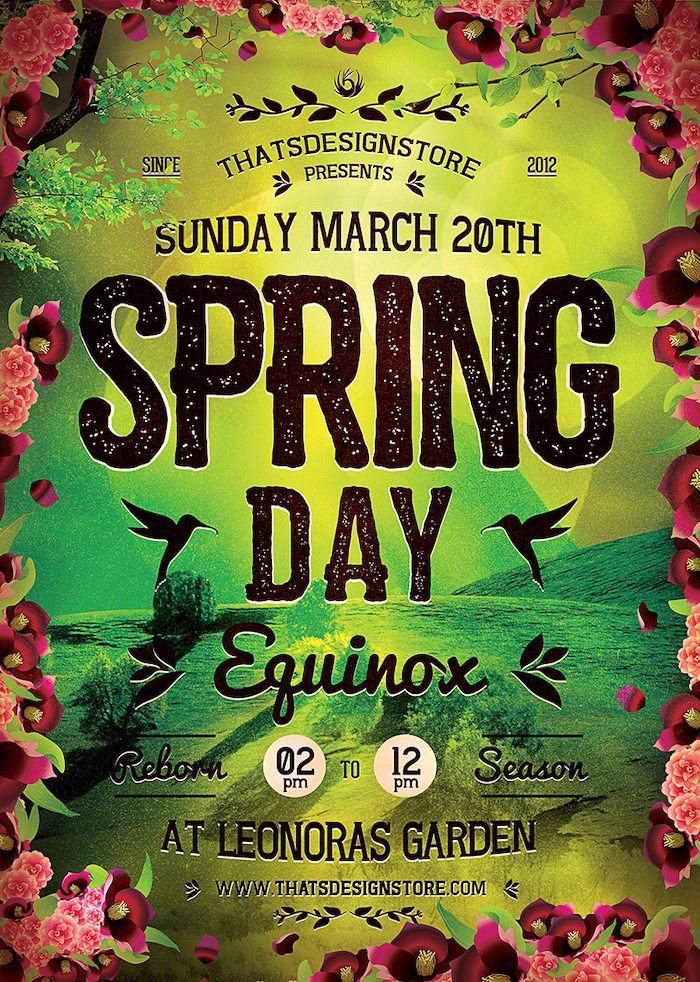 Spring Equinox Flyer Template Psd download V4