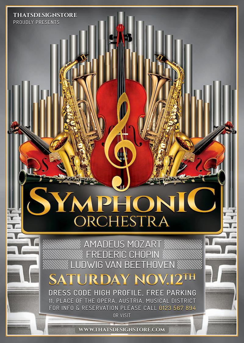 Symphonic Orchestra PSD Flyer Template
