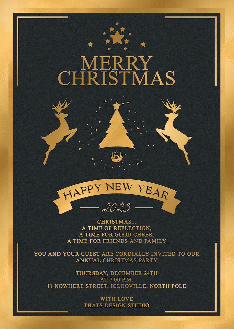 christmas invitation template psd customizable v 3