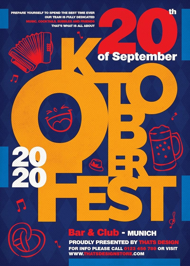 Beer Party Oktoberfest Flyer Template V.8