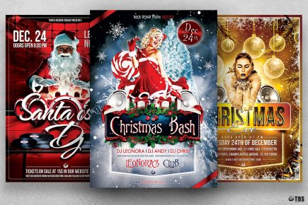 Christmas Flyer Templates customizable with Photoshop