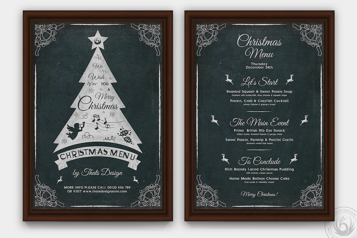 Christmas Eve Menu Template V5