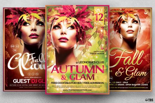 Fall Party Flyer Templates Bundle