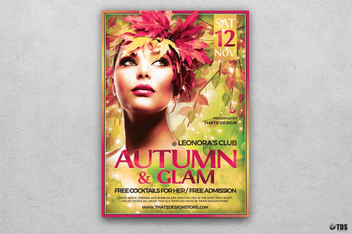 Fall Party Flyer Template V6