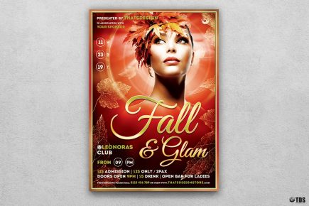 Autumn Fall Party Flyer Template V7