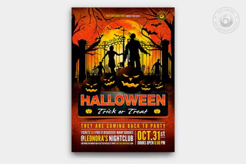 Halloween Flyer Template PSD design for photoshop V19