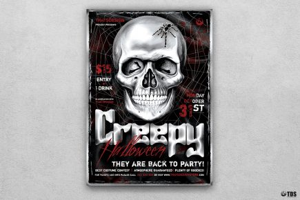 Halloween Flyer Template PSD download design V21