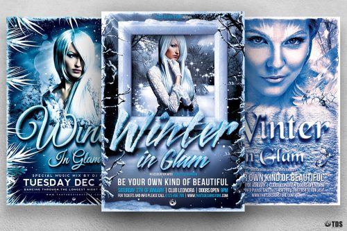 Winter Glam Flyer Bundle