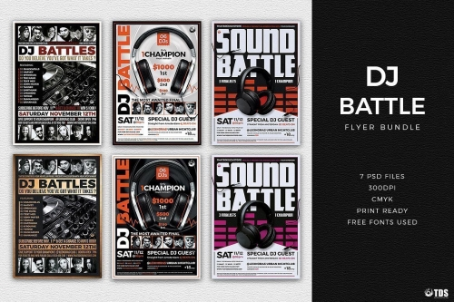 DJ Battle Flyer Bundle
