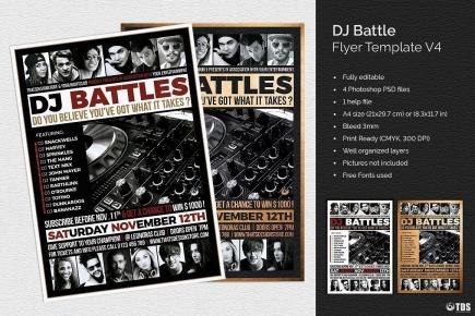 DJ Battle Flyer Template V4