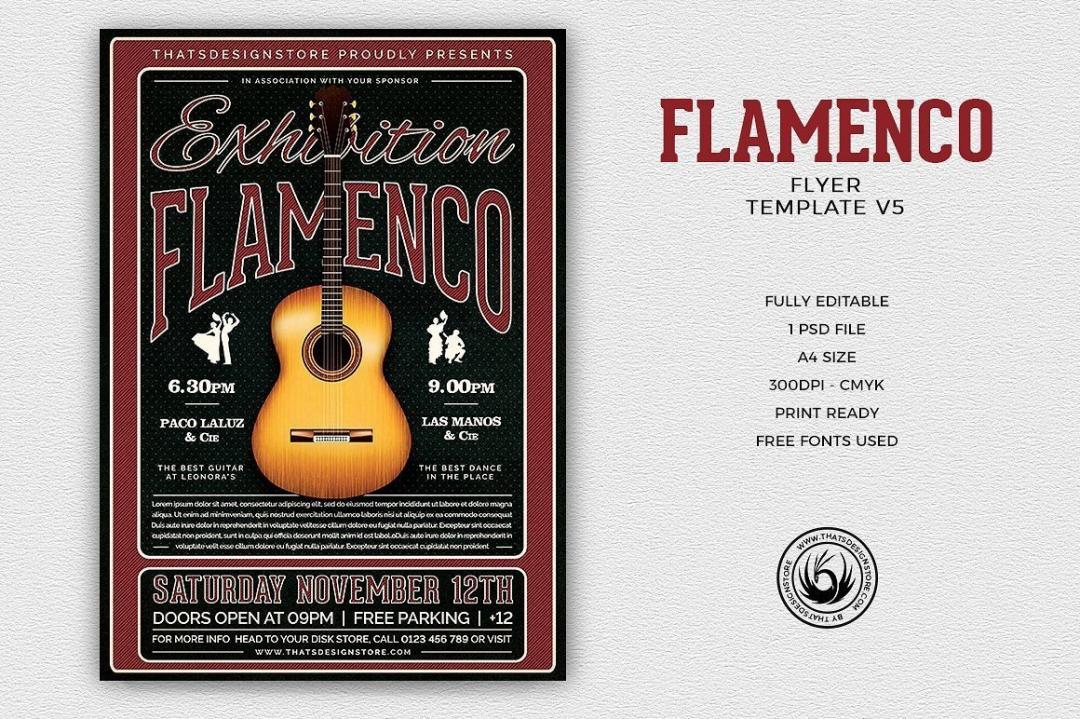 Flamenco Flyer Template V5