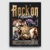 Rock Festival Flyer Template psd download V4, live band poster design