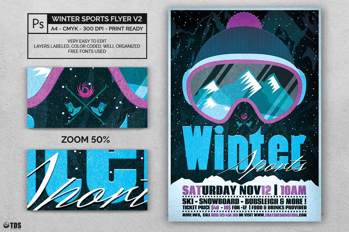 Winter Sports Flyer Template V2