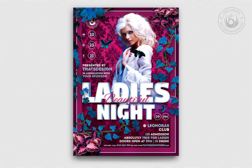 Beautiful Ladies Flyer Template psd download
