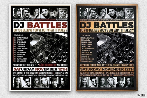 DJ Battle Flyer Template V4