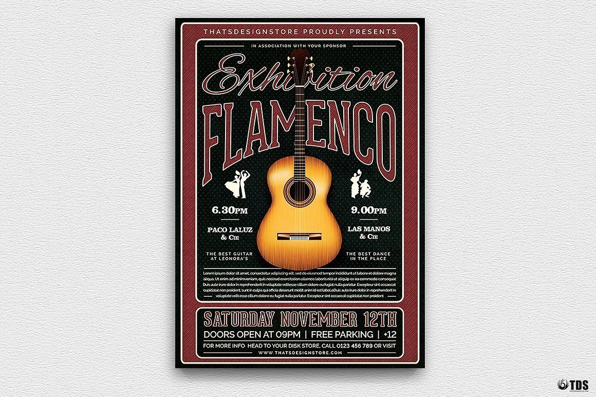 Flamenco Flyer Template V5