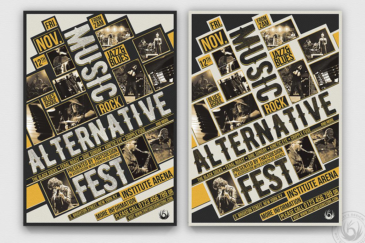 Music Festival Flyer Template psd Design V11