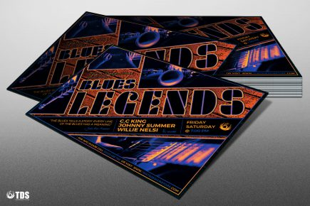 Blues legends Flyer Template psd