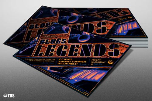 Blues legends Flyer Template psd