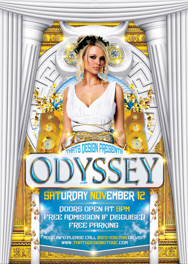 Greek Party Flyer Template Psd | Flyer Design Store