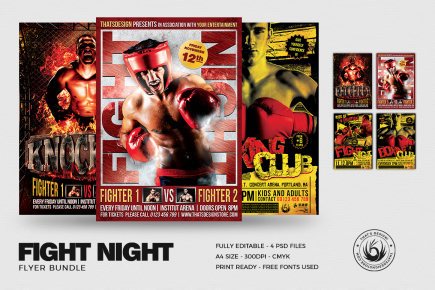 Boxing Flyer Templates Psd Download customizable