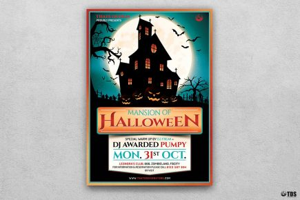 Halloween Flyer Template PSD download V20