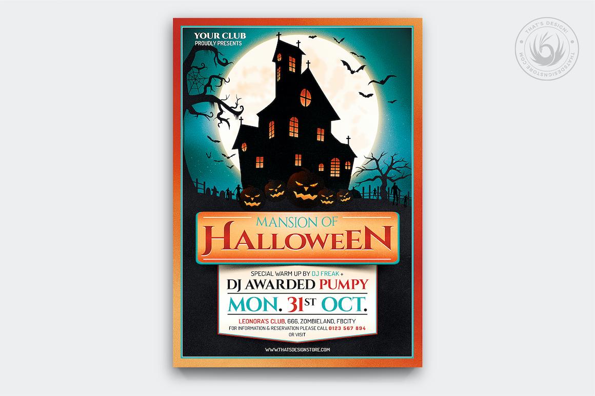 Halloween Flyer Template PSD download V20