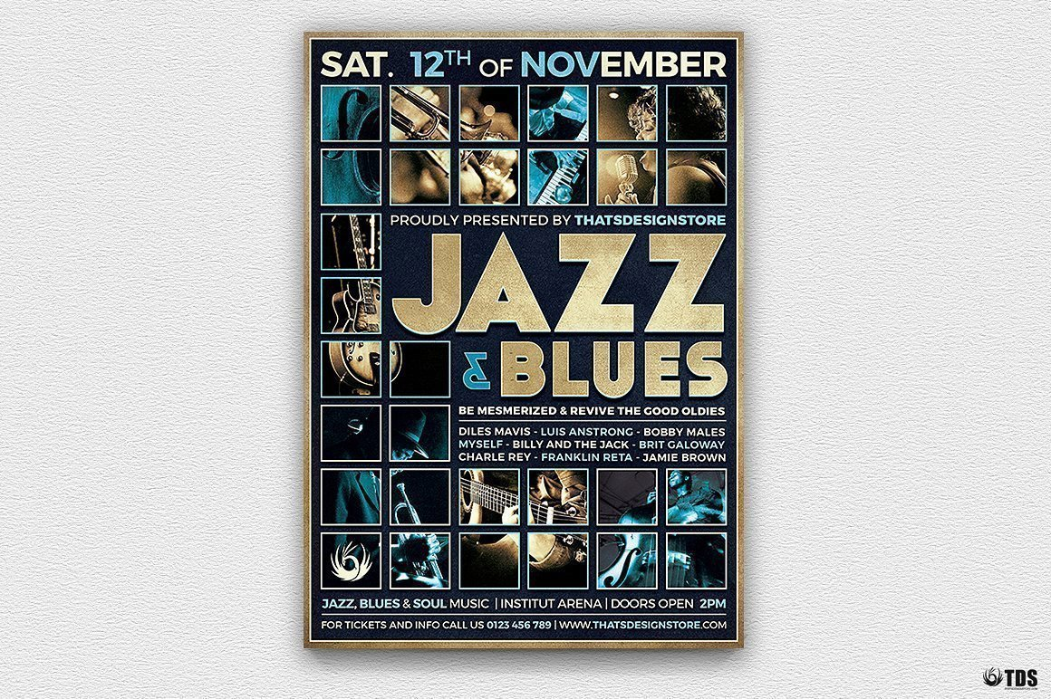 Jazz and Blues Flyer Template Psd Download