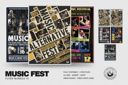 Music Festival Flyer Templates Bundle V1
