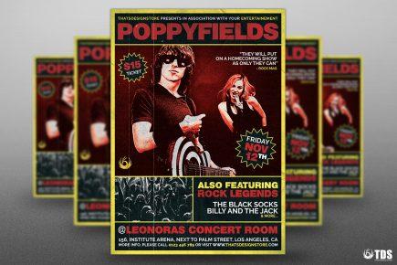 Rock Concert flyer Template psd V.2