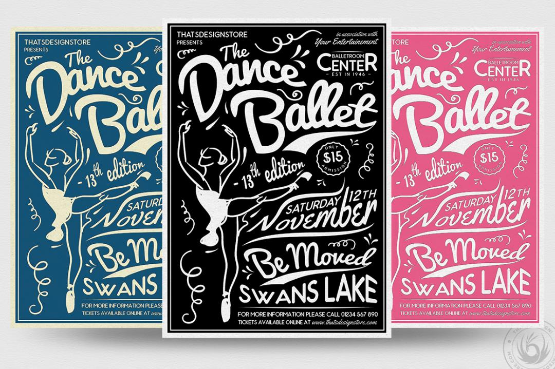 Dance Ballet Flyer Template PSD Download V3