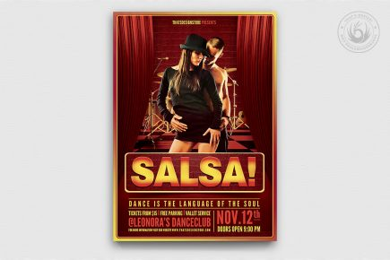 Salsa Flyer Template PSD Download V.2