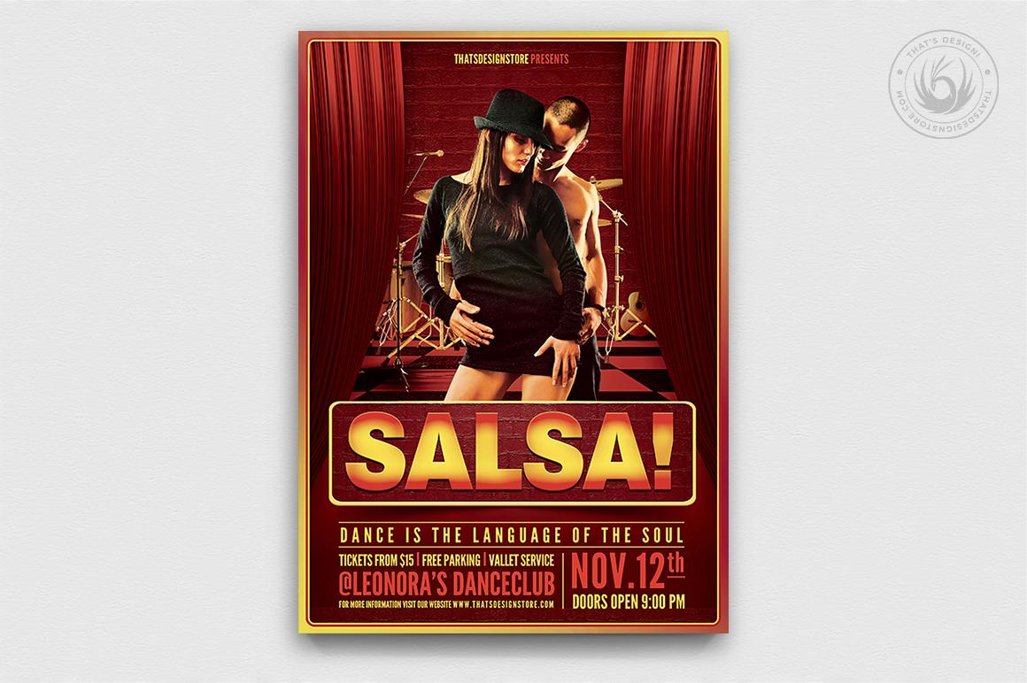 Salsa Flyer Template PSD Download V.2
