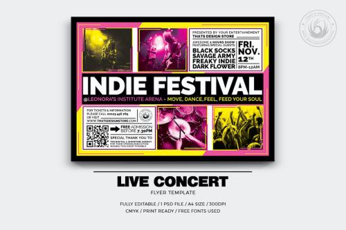 Live Concert Flyer PSD Template V.17
