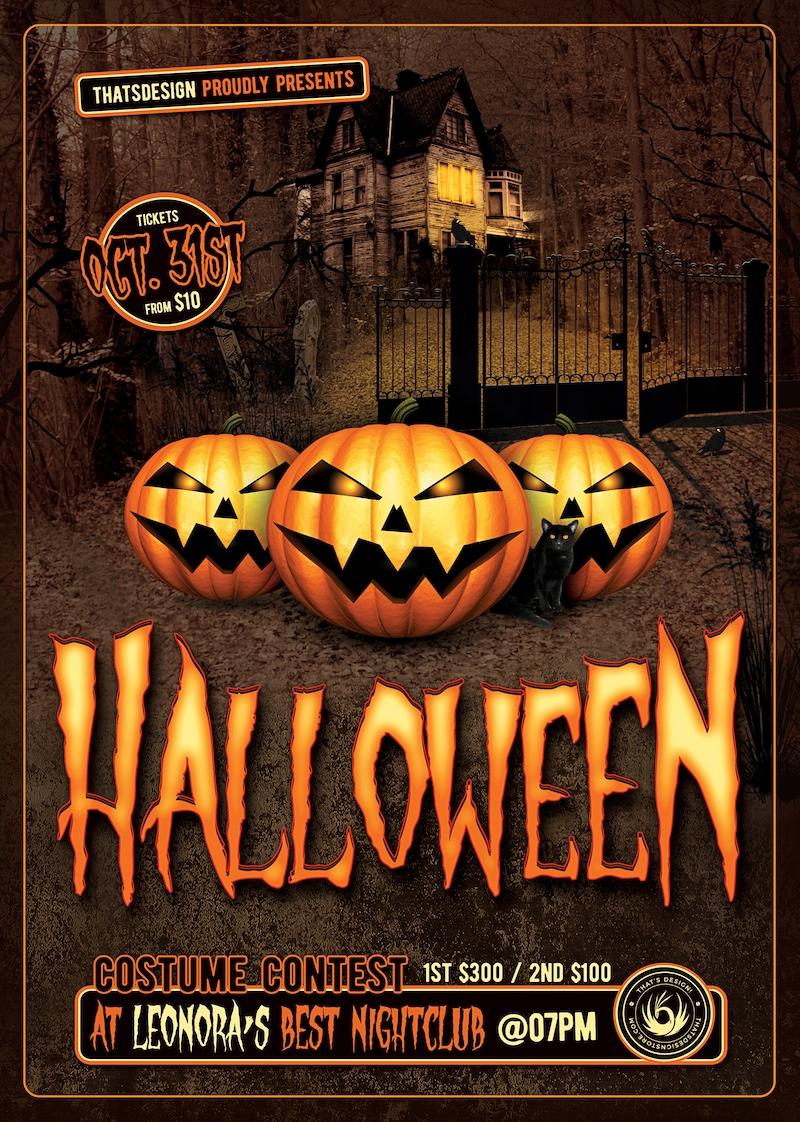 Halloween Flyer Template Psd Design for photoshop