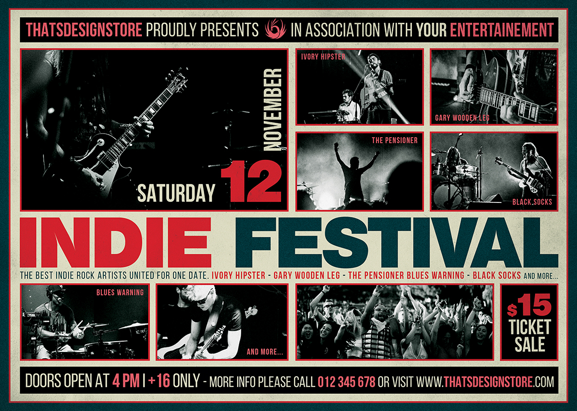 indie fest flyer template v3