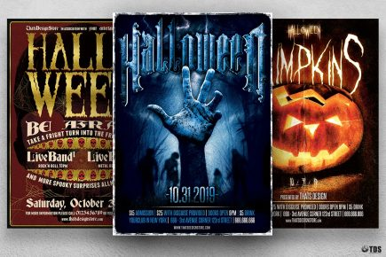 Halloween Flyer Bundle V4