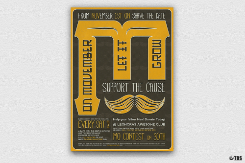 Movember Flyer Template V3