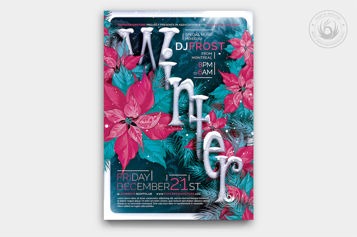 Winter Season Flyer Template V2