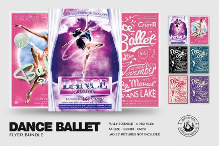 Dance Ballet Flyer Templates Psd Download Bundle