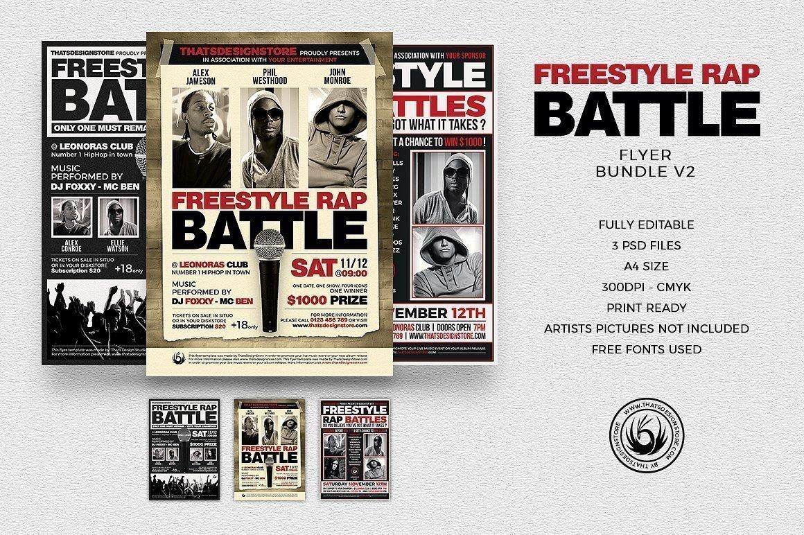 Freestyle Rap Battle Flyer Bundle V2