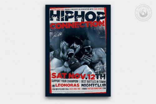 Hip Hop Connection Flyer Template PSD