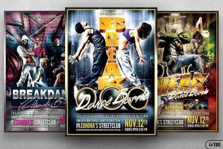 Break Dance Flyer Bundle
